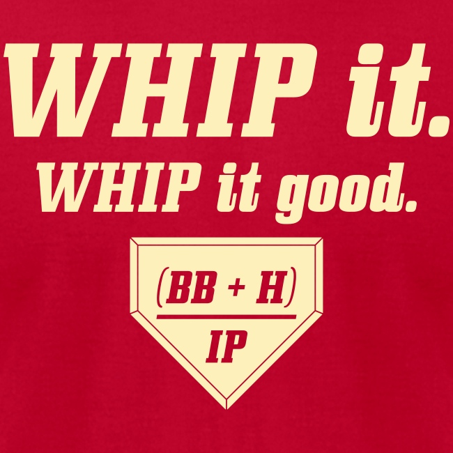 WHIP it good. (BB + H) / IP