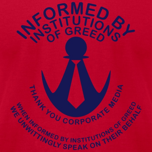 Informed by Institutions of Greed - Men's Jersey T-Shirt
