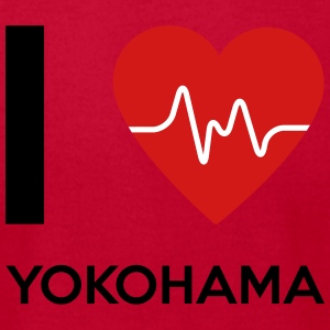 I Love Yokohama - Men's T-Shirt by American Apparel