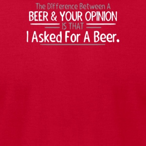 Beer Opinion - Men's T-Shirt by American Apparel