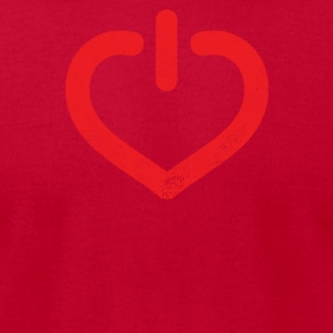 Power Of Love - Men's T-Shirt by American Apparel