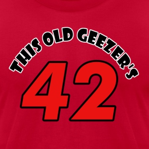 42 birthday design - Men's T-Shirt by American Apparel