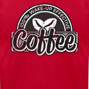 Coffee Lovers Distressed Retro Logo Style - Men's T-Shirt by American Apparel