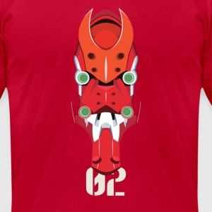 EVA 02 Head - Men's T-Shirt by American Apparel