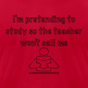 Pretending to Study - Men's T-Shirt by American Apparel