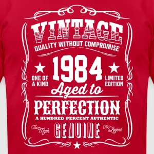 Vintage 1984 Aged to Perfection - Men's T-Shirt by American Apparel