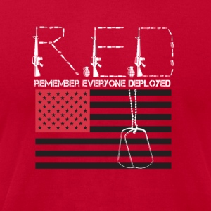 Red ( Remembering Everyone Deployed) - Men's T-Shirt by American Apparel