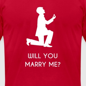 Marriage Propose to Girl - Men's T-Shirt by American Apparel