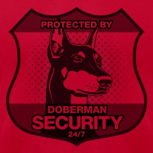 Protected By Doberman Security. - Men's T-Shirt by American Apparel
