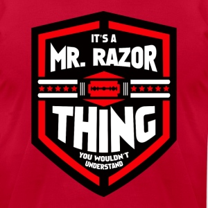 It's a Mr Razor Thing Trini - Men's T-Shirt by American Apparel