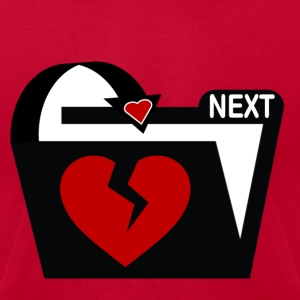 Valentine I'm Done and Who's Next - Men's T-Shirt by American Apparel
