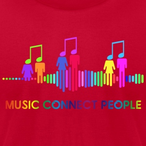 music connect people - Men's T-Shirt by American Apparel