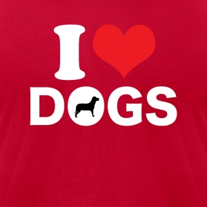 I Love Dogs T-shirt - Men's T-Shirt by American Apparel