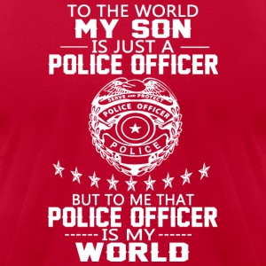 MY SON IS POLICE OFFICER T Shirt - Men's T-Shirt by American Apparel
