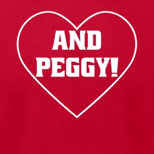 And Peggy! Shirt With Heart - Men's T-Shirt by American Apparel