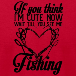 I'm Cute Now Wait Till You See Me Fishing T Shirt - Men's T-Shirt by American Apparel