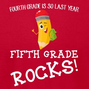 fourth grade is so last year, fifth grade Rocks! - Men's T-Shirt by American Apparel