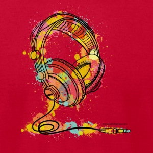 Watercolour Headphone - T-Shirt - Men's T-Shirt by American Apparel