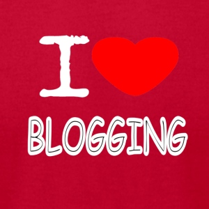 I LOVE BLOGGING - Men's T-Shirt by American Apparel