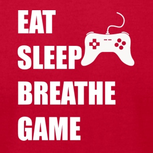 Eat Sleep Breathe Game - Men's T-Shirt by American Apparel