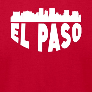 El Paso TX Cityscape Skyline - Men's T-Shirt by American Apparel