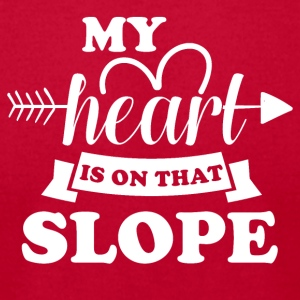 My heart is on that slope - Men's T-Shirt by American Apparel