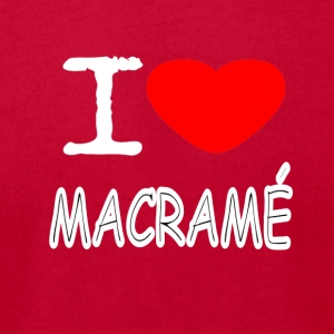 I LOVE MACRAME - Men's T-Shirt by American Apparel
