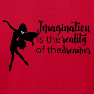 Imagination, reality dreamer - Men's T-Shirt by American Apparel