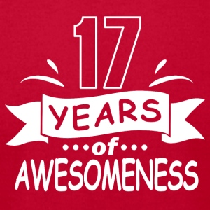 17 years of awesomeness - Men's T-Shirt by American Apparel