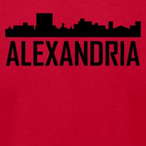Alexandria Louisiana City Skyline - Men's T-Shirt by American Apparel