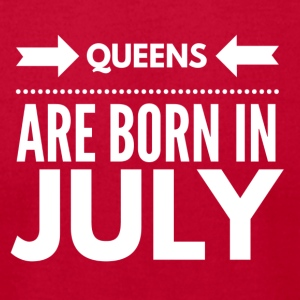 Queens Born July - Men's T-Shirt by American Apparel
