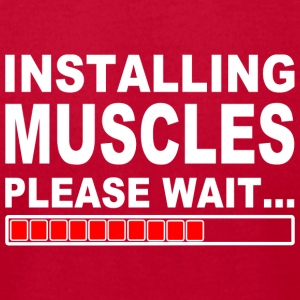 Installing muscles please wait - Men's T-Shirt by American Apparel