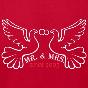 Mr And Mrs Since 2005 Married Marriage Engagement - Men's T-Shirt by American Apparel