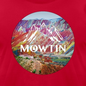 Rainbow_MOWTIN_Design_without_Background - Men's T-Shirt by American Apparel