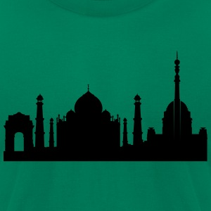 Delhi silhouette - Men's T-Shirt by American Apparel