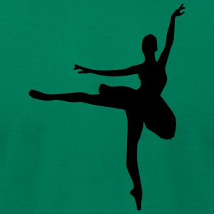 Vector Ballet dancer Silhouette - Men's T-Shirt by American Apparel