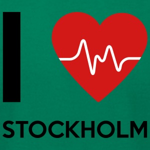 I Love Stockholm - Men's T-Shirt by American Apparel