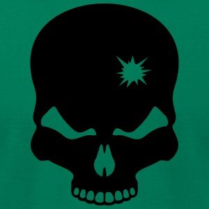 skull silhouette - Men's T-Shirt by American Apparel