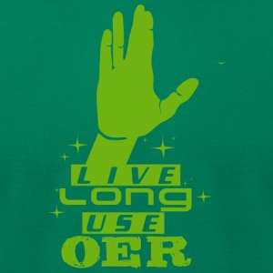 Live Long Use OER (Green) - Men's T-Shirt by American Apparel