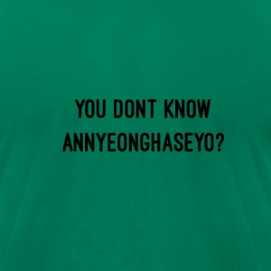 Annyeonghaseyo - Men's T-Shirt by American Apparel