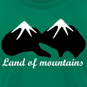 Land of mountains - Men's T-Shirt by American Apparel
