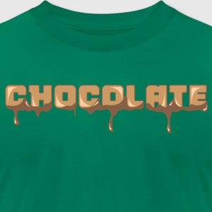 Chocolate Horizontal Font - Men's T-Shirt by American Apparel