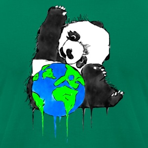Earth Day Panda, Earth Bear - Men's T-Shirt by American Apparel