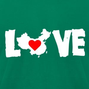 Love China White - Men's T-Shirt by American Apparel