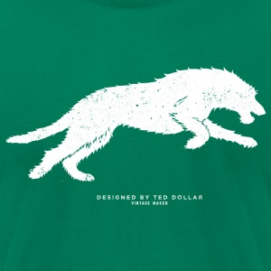 Running Wolfhound - Men's T-Shirt by American Apparel