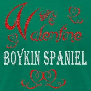 A romantic Valentine with my Boykin Spaniel - Men's T-Shirt by American Apparel