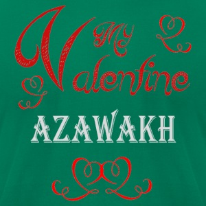 A romantic Valentine with my Azawakh - Men's T-Shirt by American Apparel
