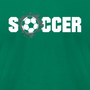 Soccer football Design Products - Men's T-Shirt by American Apparel