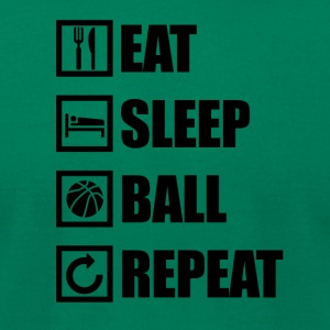 EAT SLEEP BALL REPEAT - Men's T-Shirt by American Apparel