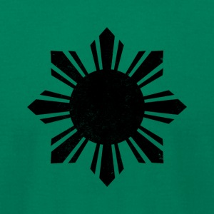 Black Flag Philippines Sun - Men's T-Shirt by American Apparel